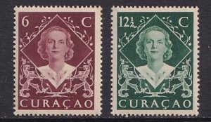 Netherlands Antilles  #201-202   Curacao 1948  MNH Juliana