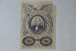 Mexico Revenue 1879 CF28 Federal Renta Del Timbre Carmen OP Jumbo note