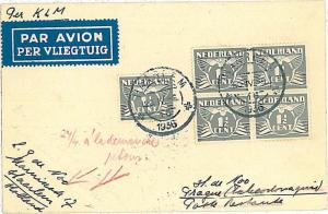 FIRST FLIGHT cover: MULLER #235 - NETHERLANDS 1936 AMSTERDAM \ PRAGA