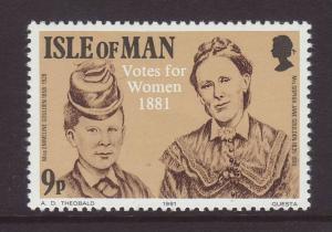 1981 Isle of Man 9p Votes for Women U/Mint SG201