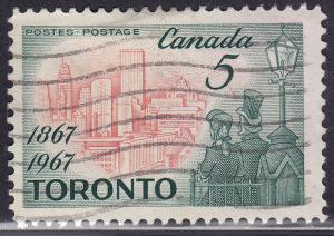 Canada 475 View of Modern Toronto 5¢ 1967