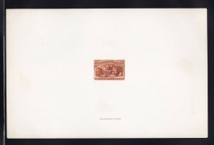 239 P1 large die india proof on card scarce nice color cv $ 1000 ! see pic !