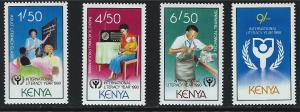 Kenya SC541-544 International Literacy Year MNH 1990