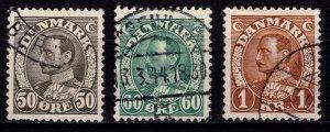 Denmark 1933-41 Christian X Definitives, Part Set [Used]