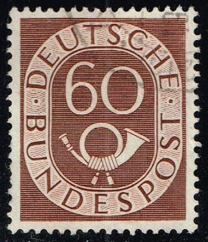 Germany #682 Numeral and Post Horn; Used (0.65)