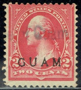 1899 2c WASHINGTON  2a (type IV) with GUAM overprint. Used Cat val $45.00