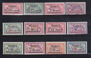 Memel 67-71, 73-74, 76-78, 80, 82 MHR Surcharges