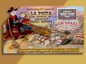 La Posta Celebrates 50 Years of Publication with Stagecoach/Plane Fold-out FDC