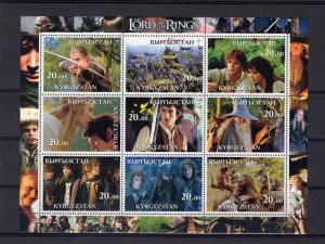 Kyrgyzstan 2001 THE LORD OF THE RINGS Sheetlet (9) IMPERFORATED  MNH