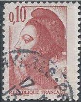 France 1784 (used) 10c Liberty (after Delacroix), dull red