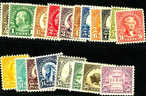 U.S. #551-66,568-70 MINT OG HR