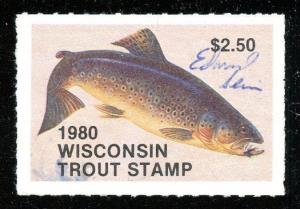 Wisconsin 1980 Trout Stamp