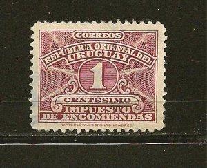 Uruguay Q55 Parcel Post Used