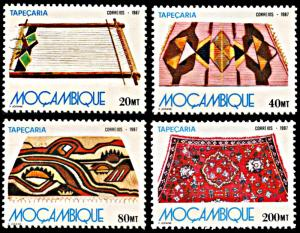 Mozambique 1030-1033, MNH, Tapestries