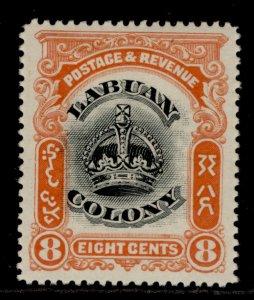 NORTH BORNEO - Labuan EDVII SG121a, 8c black & vermilion, M MINT.