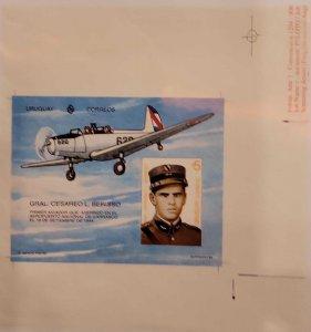 O) 1994 URUGUAY, DIE PROOF CESAREO L. BERISSO, FIRST AVIATOR LAND AT NAT. AIR...