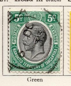 Tanganyika 1927 Early Issue Fine Used 5c. 269597