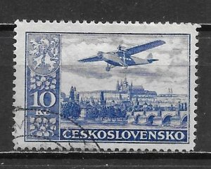 Czechoslovakia C16 10k 1930 Airmails single Used (z2)