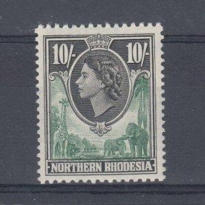 Northern Rhodesia QEII 1953 10/- SG73 MNH J9644