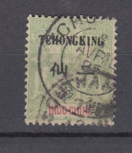 J28873, 1903-4 france office china tchongking used #4 ovpt