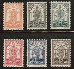 Portugal Scott 534-539 D. Nuno 1931 MH* set CV$186.25