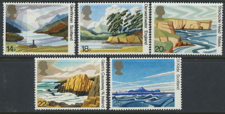 GB SG 1155 - 1159  SC# 945-949 Mint Never Hinged - National Trust
