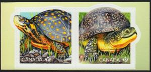 New! TURTLE = ENDANGERED = Se-Tenant pair Cut from Booklet MNH-VF Canada 2019