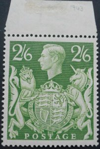 Great Britain 1942 GVI Two Shillings and Six Pence SG 476b u/mint