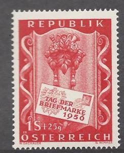 Austria, B297, Stamp Day 1956 Single,**Hinged**