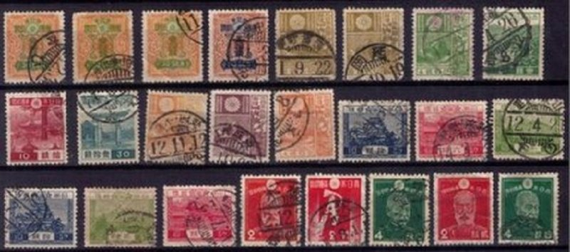 Japan Scott Nos.91-198 Not A Complete Set Used Early Japan Lotof (51) F-VF