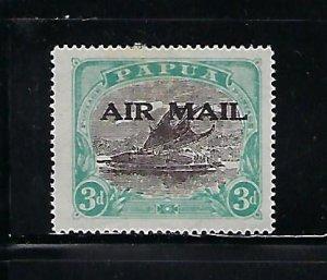 PAPUA SCOTT #C1 1929 AIR MAIL OVERPRINT - MINT  HINGED