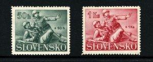 Slovakia  (1941)  - Scott # B2 - B3,