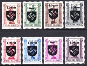 BELGIUM B346-B353 WW2 LÖWEN OVERPRINT OG NH U/M VF SET BEAUTIFUL GUM