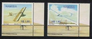 Namibia Gliding in Namibia 2v Corners SG#833-834