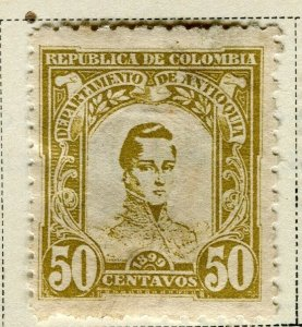 COLOMBIA ANTIOQUIA; 1899 early Bolivar issue Mint hinged 50c. value