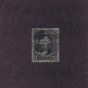 SC# 97 USED 12 CENT WASHINGTON, 1868,  SEGMENTED WEDGES FANCY CANCEL