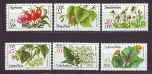 J22677 Jlstamps 1978 germany ddr mnh set #1875-80 medical plants