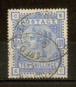 GB 1883 QV 10/- SG183 Fine Used Cat£525