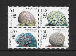 CORALS - NETHERLANDS ANTILLES #1071   WWF    MNH