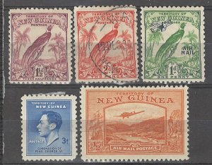 COLLECTION LOT # 3739 NEW GUINEA 5 STAMPS 1931+ CV+$10