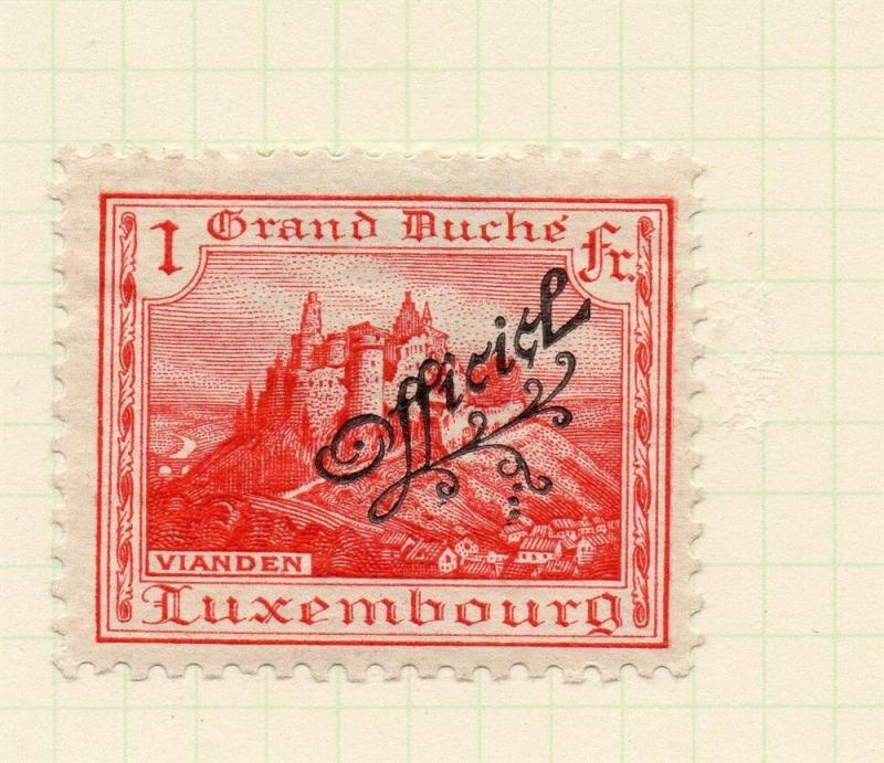 Luxembourg 1921 Early Issue Fine Mint Hinged 1f. Official Optd 253208