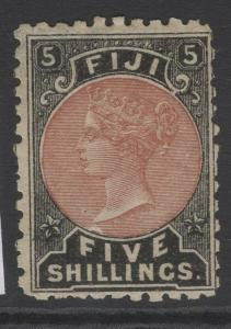 FIJI SG69 1882 5/- DULL RED & BLACK MTD MINT