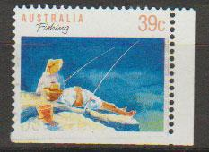 Australia SG 1179a FU - booklet stamp bottom right imperf...