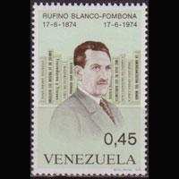 VENEZUELA 1974 - Scott# 1091 Writer Blanco 45c NH