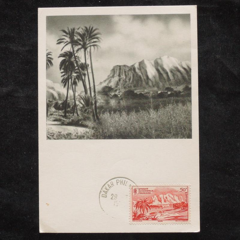 ZS-W724 MAXIMUM CARDS - France, Afrique Occidentale Francaise, Landscape