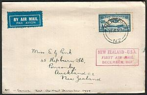 NEW ZEALAND 1937 First flight cover to Samoa...............................14816