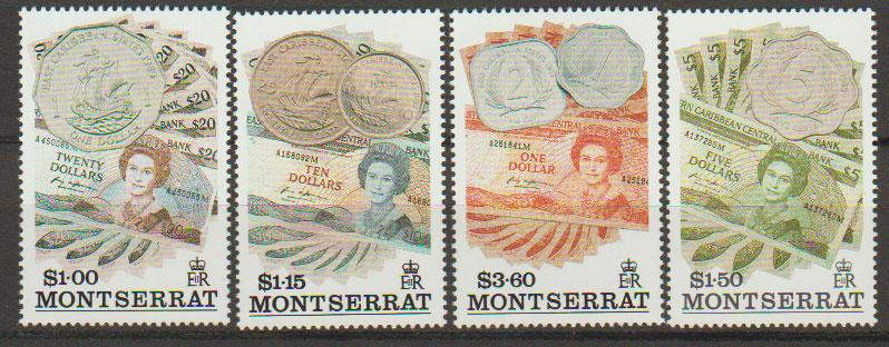 Montserrat SG 907 - 910 set of 4  MLH - Currency