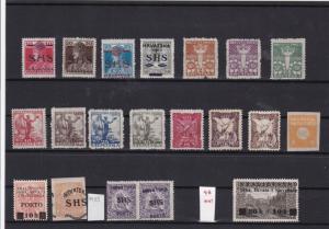 yugoslavia croatia slovenia region ovpt stamps mnh + mm ref 6993