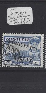 ZANZIBAR  (PP2909B) JAMHURI OVPT  20C  DOUBLE OVPT ONE INV   VFU