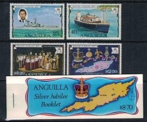 Anguilla #271-4* NH  Plus booklet  CV $4.10  Queen Elizabeth Silver Jubilee